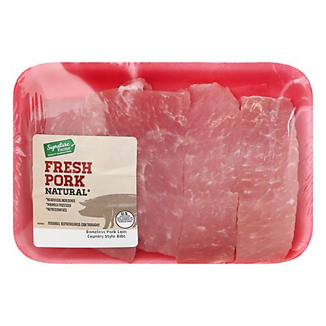 Pork Loin Country Style Ribs Boneless - 1.25 Lbs