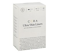 Cora Liners Organic Cotton Ultra Thin Light Absorbency Regular - 40 Count