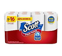 Scott Paper Towels Choose A Sheet Giant Rolls 1 Ply Sheets - 8 Roll