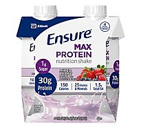 Ensure Max Protein Nutrition Shake Ready To Drink Mixed Berry - 4-11 Fl. Oz.