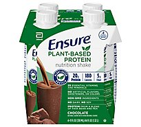 Ensure Plant Based Protein Nutrition Shake Ready To Drink Chocolate - 4-11 Fl. Oz.