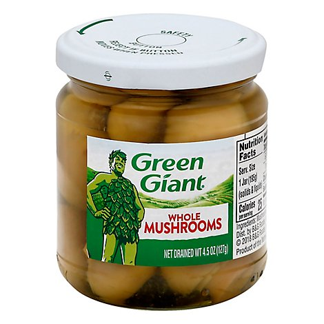 Green Giant Mushrooms Whole - 4.5 Oz
