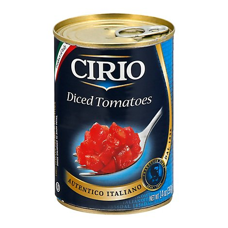 Cirio Tomatoes Diced - 14 Oz