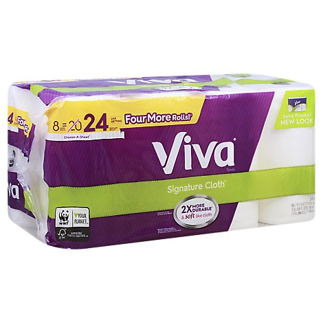 Viva Paper Towel Huge Roll 1 Ply Choose A Sheet Signature Cloth - 8 Count