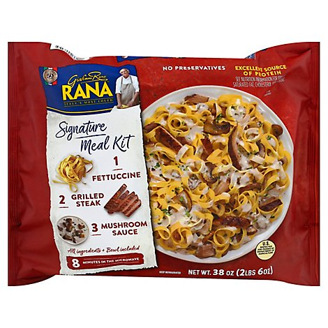 Rana Meal Steak Fettuccine W/Mushroom Sauce - 38 Oz