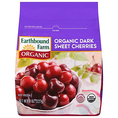Earthbound Farm Organic Cherries Dark Sweet - 8 Oz