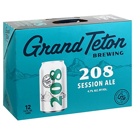 Grand Teton 208 Ale In Cans - 12-12 Fl. Oz.