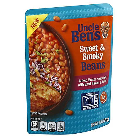 Uncle Bens Beans Baked Sweet & Smoky - 9.2 Oz