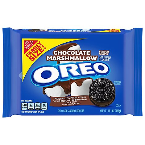 OREO Cookie Sandwich Chocolate Marshmallow Family Size - 17 Oz