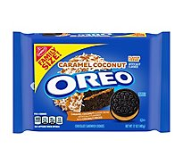OREO Sandwich Cookies Chocolate Caramel Coconut Family Size - 17 Oz