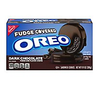 OREO Sandwich Cookies Fudge Covered Dark Chocolate - 9.9 Oz