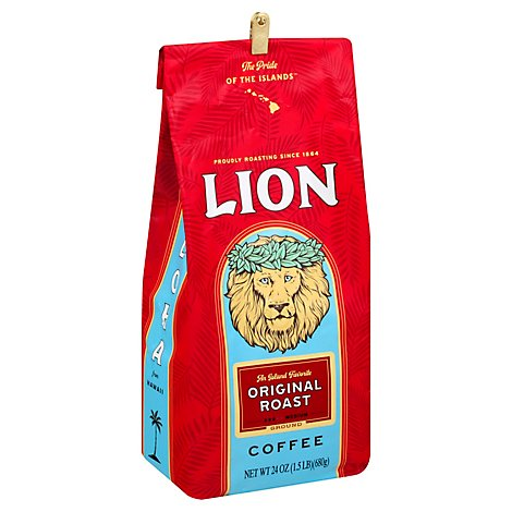 Lion Coffee Ground Medium Original Roast - 24 Oz