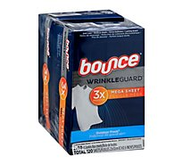 Bounce WrinkleGuard Dryer Sheets Outdoor Fresh Twin Pack - 2-60 Count