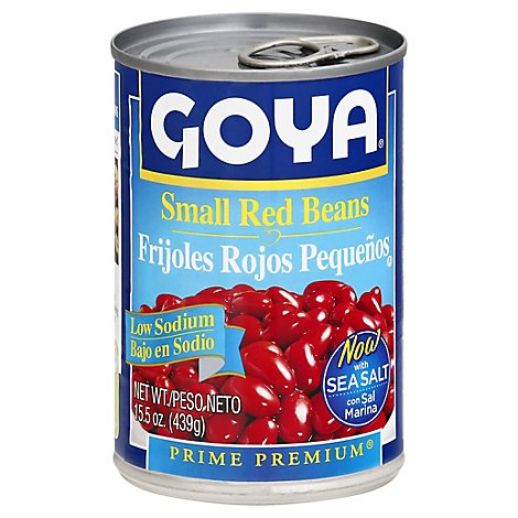 Goya Small Red Beans Low Sodium - 15.5 Oz