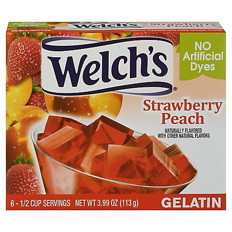 Welchs Gelatin Strawberry Peach - 3.99 Oz