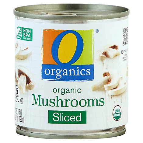 O Organics Mushrooms Sliced - 4 Oz