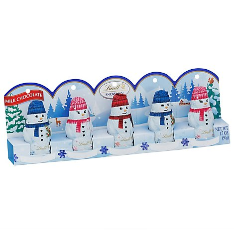 Lindt Mini Snowman 5pk - 1.7 Oz