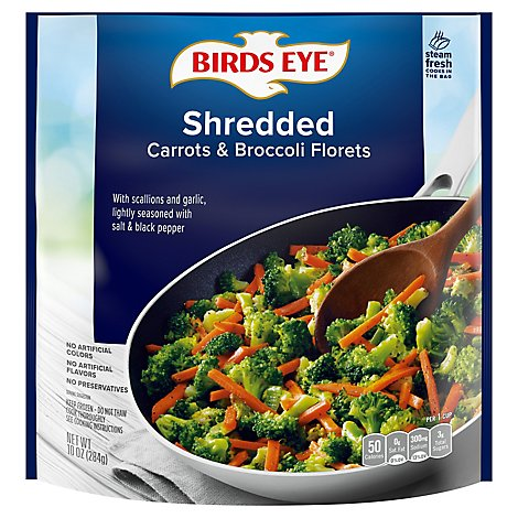 Birds Eye Steamfresh Shredded Carrots & Broccoli Florets - 10 Oz