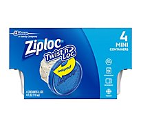 Ziploc Twist N Loc Containers Mini 4 Ounce - 4 Count