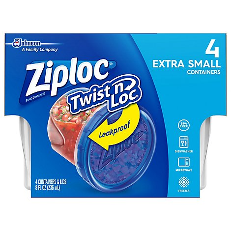 Ziploc Twist N Loc Container Extra Small - 4 Count