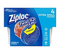 Ziploc Twist N Loc Containers Extra Small 8 Ounce - 4 Count
