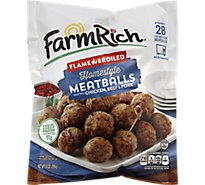Farm Rich Meatballs Flame Broiled Homestyle - 14 Oz