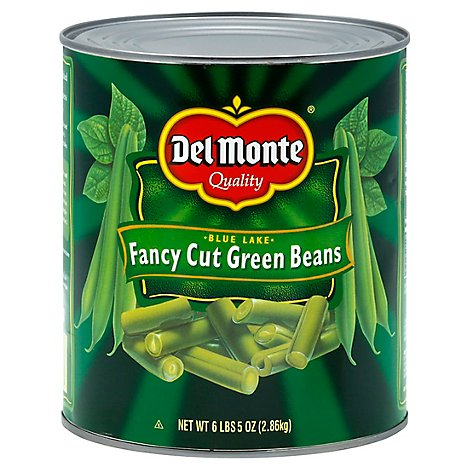 Del Monte Beans Green Fancy Cut - 101 Oz
