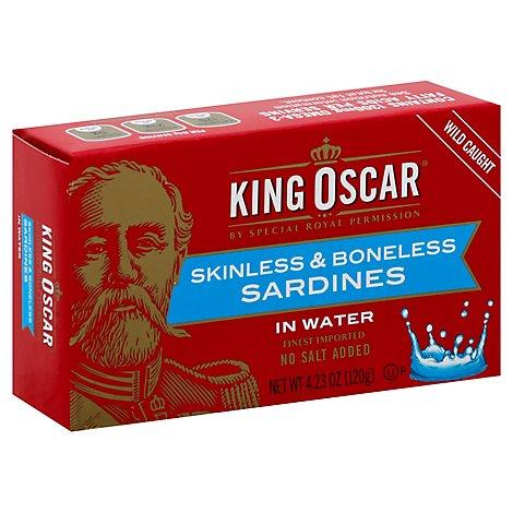 King Oscar Sardines Skinless & Boneless In Water - 4.23 Oz