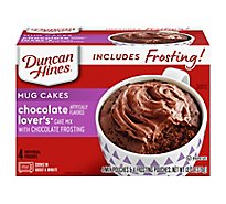 Duncan Hines Mug Cakes Mix With Chocolate Frosting Chocolate Lovers 4 Count - 13 Oz