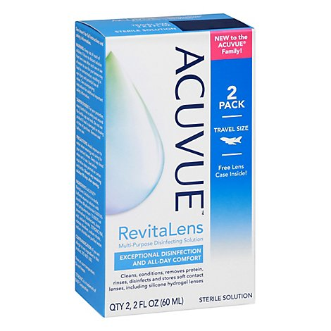 ACUVUE Revitalens Disinfecting Solution Multipurpose Travel Size - 2-2 Fl. Oz.