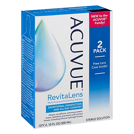 ACUVUE Revitalens Disinfecting Solution Multipurpose - 2-10 Fl. Oz.