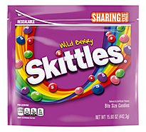 Skittles Chewy Candy Wild Berry Sharing Size Bag - 15.6 Oz