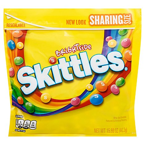 Skittles Chewy Candy Brightside Sharing Size Bag - 15.6 Oz