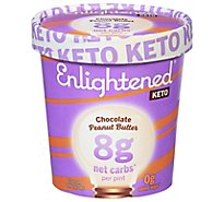 Enlightened Keto Collection Ice Cream Chocolate Peanut Butter 1 Pint - 473 Ml