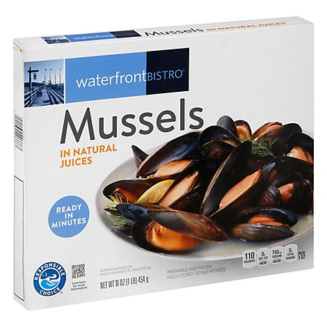 waterfront BISTRO Mussels In Natural Juices - 16 Oz