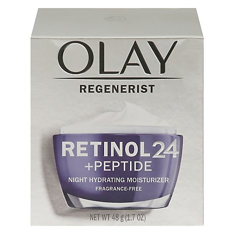Olay Regenerist Night Moisturizer Hydrating Retinol 24 Fragrance Free - 1.7 Fl. Oz.
