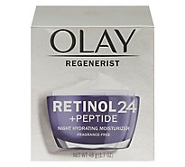 Olay Regenerist Retinol24 Night Moisturizer Hydrating Fragrance Free - 1.7 Fl. Oz.