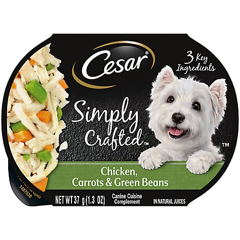 Cesar Simply Crafted Canine Cuisine Complement Chicken Carrots & Green Beans - 1.3 Oz