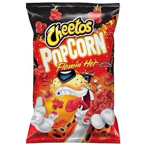 Cheetos Cheese Flavored Snacks Flamin Hot Popcorn - 6.5 Oz