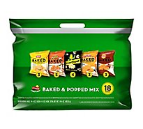 Frito Lay Snacks Baked And Popped Mix Variety 14.25 Oz - 18 Count