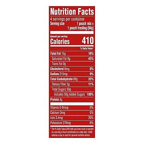 Duncan Hines Mug Cakes Mix With Chocolate Frosting Brownie 4 Count - 13.2 Oz