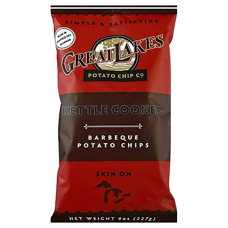 Great Lakes Bbq Chips - 8 Oz