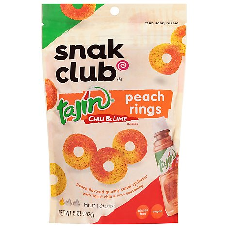 Snack Club Tajin Peach Rings - 5 Oz