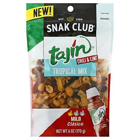 Snak Club Tropical Mix Tajin Chili & Lime Mild - 6 Oz