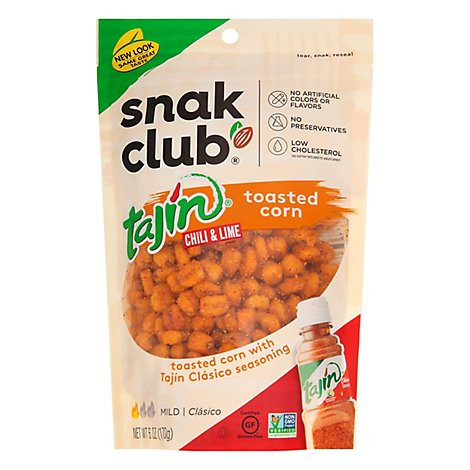 Snak Club Toasted Corn Tajin Chili & Lime Mild - 6 Oz