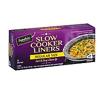 Signature Select Slow Cook Liners Regular Size - 4 Count