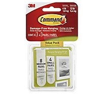 Command Picture Hanging Strips Small & Medium Value Pack - 12 Count