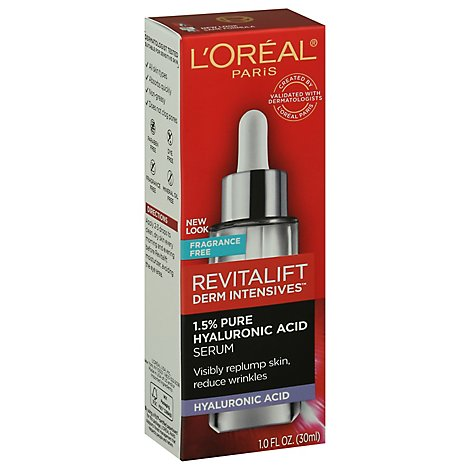 LOreal Revitalift Derm Intensives Hyaluronic Acid Serum 1.5% Pure Fragrance Free - 1 Oz