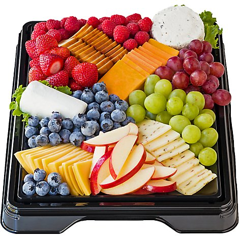 Deli Ecomm Tray Fruit & Cheese - Each