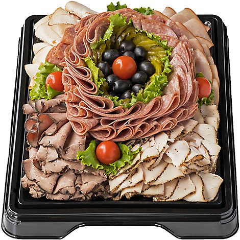 Deli Catering Tray Meat Lovers 16 Inch Square Tray 20-24 Servings - Each (Please allow 24 hours for delivery or pickup)